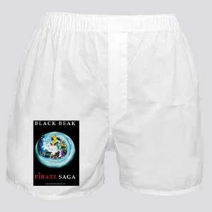 BLACK_BEAK_BOOK_PIRATE_SAGA Boxer Shorts