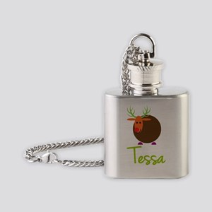 Tessa-the-reindeer Flask Necklace
