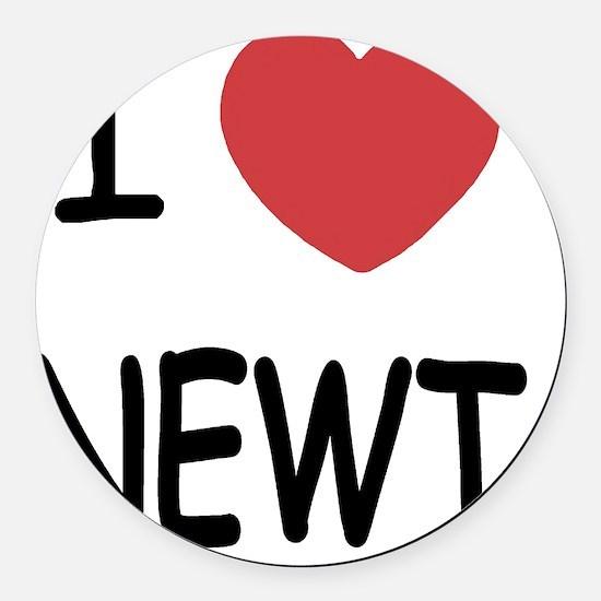 NEWT Round Car Magnet