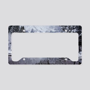Wintry Cathedral Beach, Yosem License Plate Holder