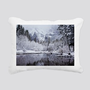 Wintry Cathedral Beach,  Rectangular Canvas Pillow