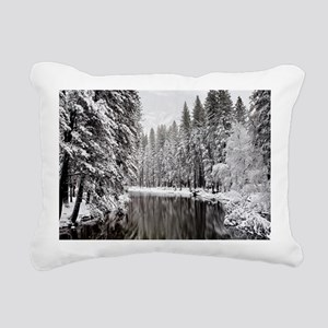 Winter, Merced River (Yo Rectangular Canvas Pillow