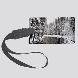 Winter, Merced River (Yosemite N Large Luggage Tag