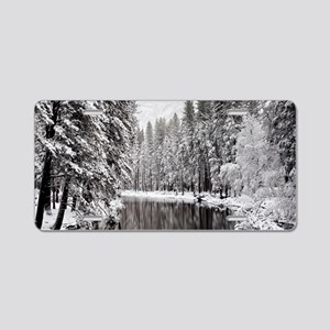 Winter, Merced River (Yosem Aluminum License Plate
