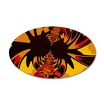 Ferocious Creature 20x12 Oval Wall Decal