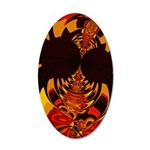 Ferocious Creature 35x21 Oval Wall Decal