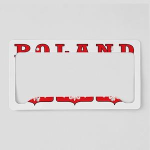 Poland Eagle Shields License Plate Holder