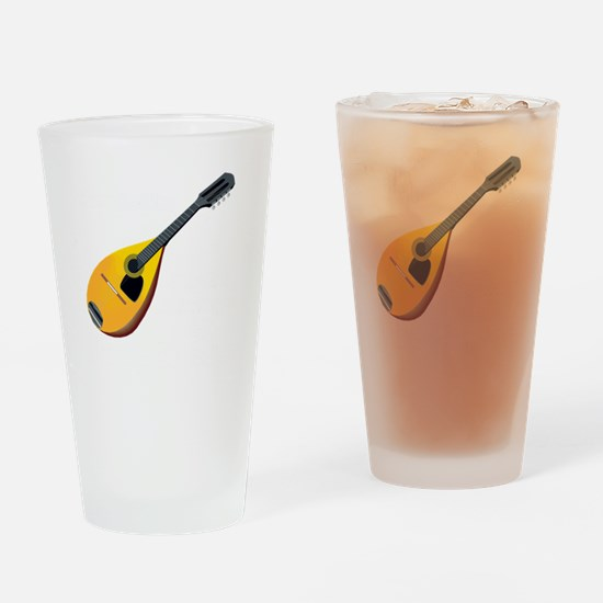 Mandolin (black) Drinking Glass