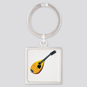 Mandolin (black) Square Keychain