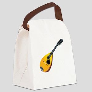 Mandolin (black) Canvas Lunch Bag