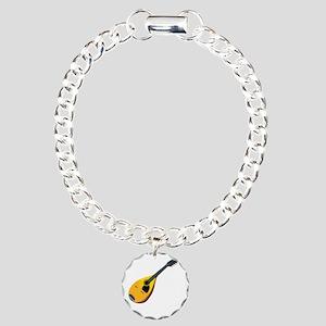 Mandolin (black) Charm Bracelet, One Charm