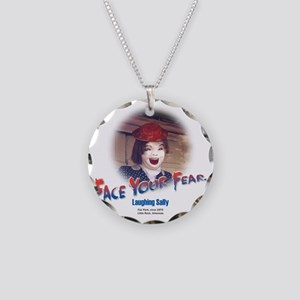 Face Your Fear Necklace Circle Charm