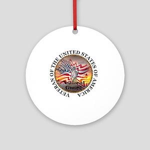 veteran lg size-nationalguard Round Ornament