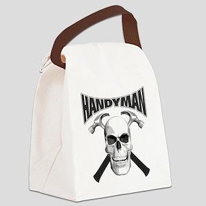 handyman_skull Canvas Lunch Bag