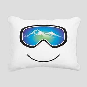 goggle black Rectangular Canvas Pillow