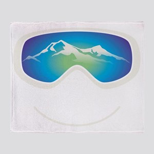 goggle white Throw Blanket