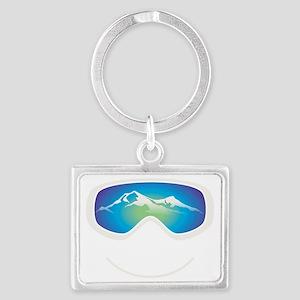 goggle white Landscape Keychain