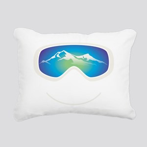 goggle white Rectangular Canvas Pillow