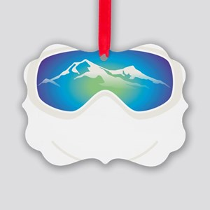 goggle white Picture Ornament