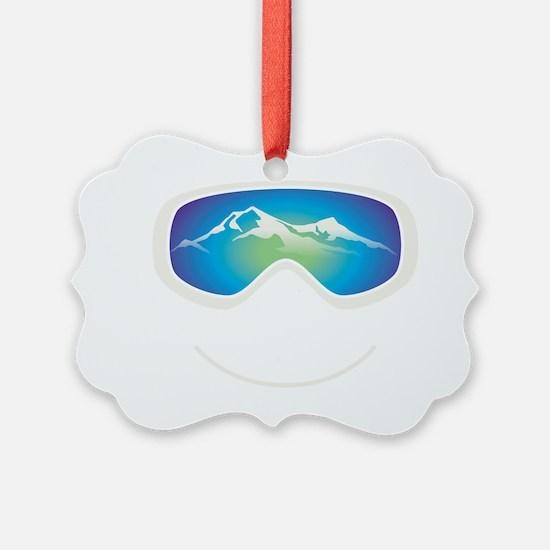goggle white Ornament
