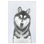 Siberian Husky (Black and White) Large Poster