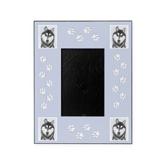 Siberian Husky (Black and White) Picture Frame