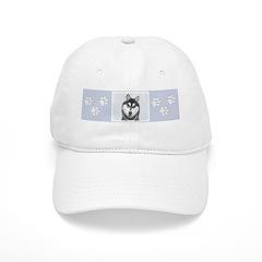 Siberian Husky (Black and White) Baseball Cap