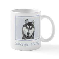 Siberian Husky (Black and White) Mug
