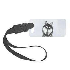 Siberian Husky (Black and White) Luggage Tag
