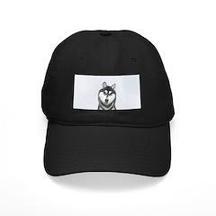 Siberian Husky (Black and Whi Baseball Hat