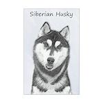 Siberian Husky (Black and White) Mini Poster Print