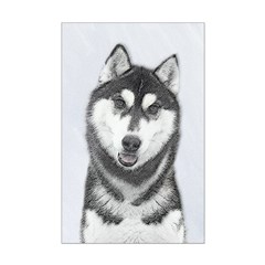 Siberian Husky (Black and White) Posters