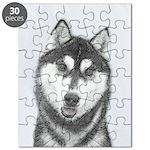 Siberian Husky (Black and White) Puzzle