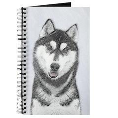Siberian Husky (Black and White) Journal