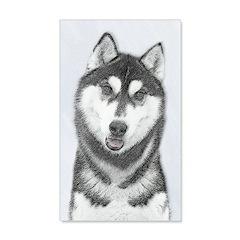 Siberian Husky (Black and White) Wall Decal