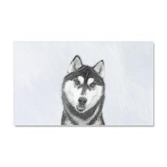 Siberian Husky (Black and White Car Magnet 20 x 12