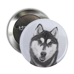 Siberian Husky (Black and White) 2.25