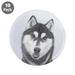 Siberian Husky (Black and Wh 3.5