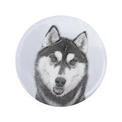 Siberian Husky (Black and W 3.5