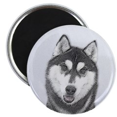 Siberian Husky (Black and W 2.25