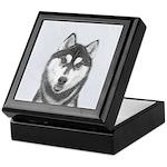 Siberian Husky (Black and White) Keepsake Box