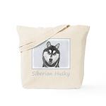 Siberian Husky (Black and White) Tote Bag