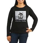 Siberian Husky (B Women's Long Sleeve Dark T-Shirt
