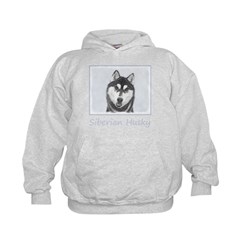 Siberian Husky (Black and White) Hoodie