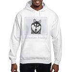 Siberian Husky (Black and White) Hooded Sweatshirt