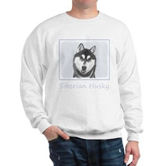 Siberian Husky (Black and White) Sweatshirt