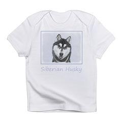 Siberian Husky (Black and White) Infant T-Shirt