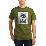 Siberian Husky (Black Organic Men's T-Shirt (dark)