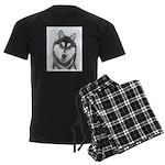 Siberian Husky (Black and Whit Men's Dark Pajamas
