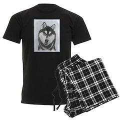 Siberian Husky (Black and Whit Pajamas